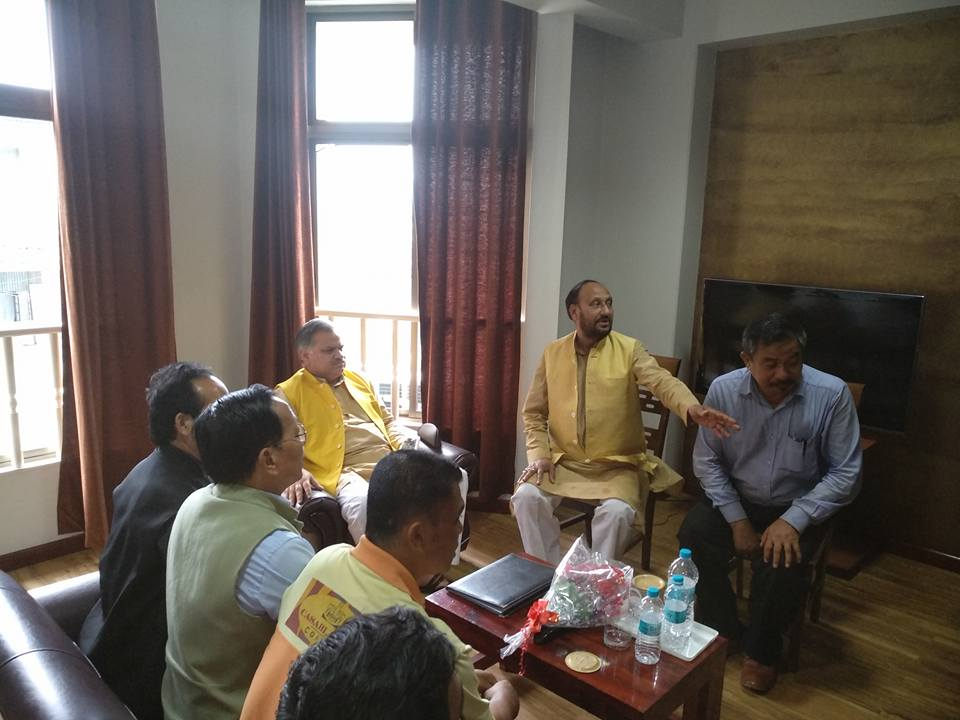 BJP leaders in Aizawl